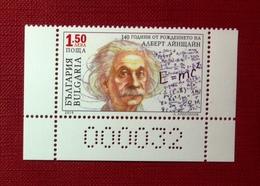Bulgaria, 2019- 140th Irth Anniversary Of A. Einstain .  N° 000032. MintNH - Albert Einstein
