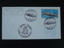 FDC Dernier Voyage Paquebot Gallieni Polar Ship Compagnie Des Messageries Maritimes TAAF 1973 - FDC