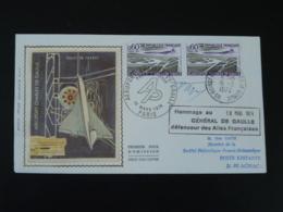 FDC Avec Vignette Concorde Signée Forget + Combet Hommage Du Général De Gaulle Aux Ailes Françaises Roissy 1974 - De Gaulle (Generale)