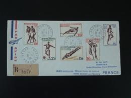 Lettre Recommandée Registered Cover Série Jeux De L'amitié Football Basketball Boxe Decaris Oblit. Dakar Yoff 1974 - Senegal (1960-...)