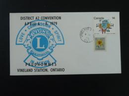 Lettre Cover Convention Lions Club Vineland Canada 1979 (ex 1) - Rotary, Lions Club