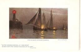 """A. Cordingley. Fishing Boats Entering Harbour"" Tuck Oilette Platemarked Ser. PC # 9735 - Tuck, Raphael"