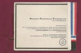 260220 - MILITARIA Programme Pélerinage 1934 35 Fédération Poilu ORIENT Alexandre I De YOUGOSLAVIE Slovénie - Dokumente