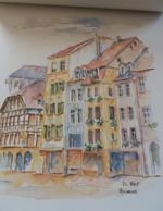 A Travers L Alsace Calendrier 1999  12 Pages  Illustrées  De Copies D Aquarelles B.Wolf TBE - Calendars
