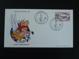 Lettre Cover Asterix Salon Philatélique Dijon 21 Cote D'Or 1987 - Fumetti