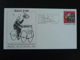 Lettre Flamme Concordante BD Festival De La Bulle D'Or Brignais 69 Rhone 1989 (ex 1) - Fumetti
