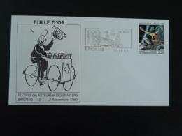 Lettre Flamme Concordante BD Festival De La Bulle D'Or Brignais 69 Rhone 1989 (ex 2) - Fumetti