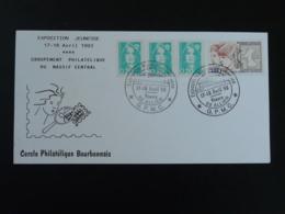 Carte-lettre Avec Cachet Double Cercle Expo Régionale Philatélie Jeunesse Yzeure 03 Allier 1993 - 1961-....