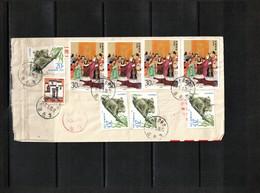 China 1997 Interesting Airmail Registered Letter - 1949 - ... République Populaire