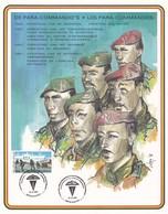 Feuillet 2188 De Para-commando's Les Para-commandos Schaffen - Belgium
