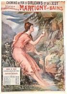 Publicite - Chemins De Fer D'Orléans Et De L'Est - Station Hydrominérale De Martigny Les Bains - Illustration F Desporte - Publicidad