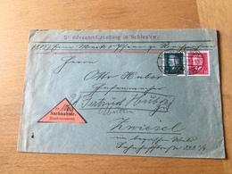 K8 Deutsches Reich 1929 Brief Per Nachnahme Vom Standesamt Grünberg Schlesien Nach Zwiesel - Deutschland