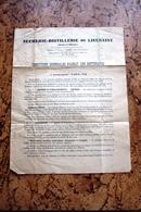 Document - Sucrerie Distillerie De Lieusant Seine Et Marne 1951-52 Sucre Betterave - Alimentare