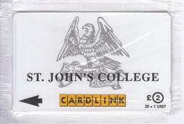 "UK(GPT) - St.John""s College(CLK015), Cardlink Telecard 2 Pounds, CN : 5CLKA, Tirage 18000, Mint - Ver. Königreich"
