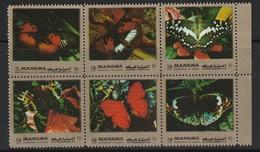 MANAMA - N°1099/1104 ** (1972) Papillons - Manama