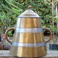 CANNE à LAIT 2 ANSES POT CUIVRE ANCIEN CRUCHE - Coppers