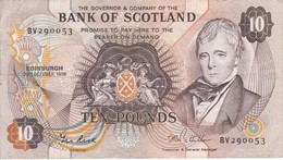 BILLETE DE ESCOCIA DE 10 POUNDS DEL AÑO 1986 (BANKNOTE) - [ 3] Escocia