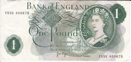 BILLETE DE REINO UNIDO DE 1 POUND DE LOS AÑOS 1960 A 1964   (BANKNOTE) - 1 Pound