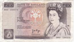 BILLETE DE REINO UNIDO DE 10 POUNDS DEL AÑO 1980-1984 (BANK NOTE) - 1952-… : Elizabeth II
