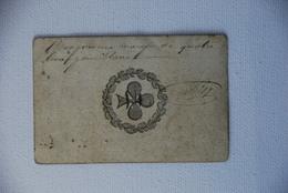 Carte A Jouer Inscrite Bon Pour Une Marque De Pain Rare As Ancienne - Documenti Storici