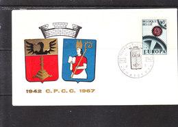 1415 Europa - 25éme Anniversaire Du Club De Châtelet - Armoiries - Enveloppes
