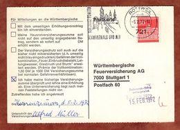 Karte, Brandenburger Tor Berlin, MS Rottweil, Nach Stuttgart 1972 (91493) - BRD