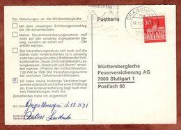 Karte, Brandenburger Tor Berlin, MS Crailsheim, Nach Stuttgart 1971 (91495) - BRD