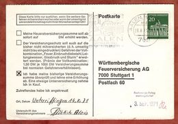 Karte, Brandenburger Tor Berlin, MS Aalen, Nach Stuttgart 1971 (91496) - BRD