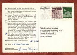 Karte, Brandenburger Tor Berlin U.a., MS Ravensburg, Nach Stuttgart 1972 (91497) - BRD