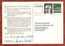 Karte, Brandenburger Tor Berlin U.a., MS Reutlingen, Nach Stuttgart 1971 (91498) - BRD