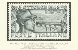 Militari - Patriottiche - Alpini - Bassano D.G. (VI) 1998 - 50° Ricostruzione Ponte Degli Alpini - - Patriotiques