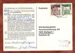 Karte, Lorsch U.a., Aalen Nach Stuttgart 1972 (91499) - BRD