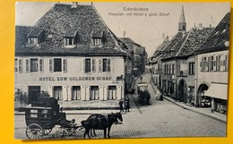 10026 - Edenkoben Hauptstrasse Mit Hotel Zum Gold Schaf - Edenkoben