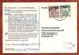Karte, Lorsch U.a., Aalen Nach Stuttgart 1972 (91500) - BRD