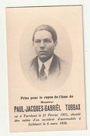 Doodsprentje Paul Jacques Gabriel TUBBAX Turnhout 1901 Autoongeluk Lichtaert Lichtaart 1934 Accident D'automobile - Andachtsbilder