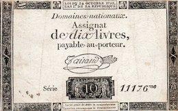 FRANCIA 10 LIVRES 1792  P-A66 B - ...-1889 Anciens Francs Circulés Au XIXème