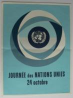 Affiche Journée Des Nations Unies, 24 Octobre, Très Bien. - Affiches
