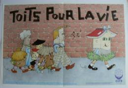 Affiche TOITS Pour La VIE, CCFD, Très Bien. - Affiches