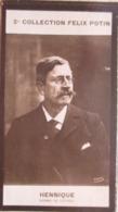 """Léon Hennique """"de Mayneville"""" Romancier Né à Basse Terre  - Académie Goncourt -  2ème Collection Photo Felix POTIN 1908 - Félix Potin"""
