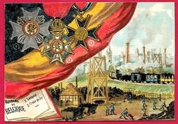 CHROMO (décorations Du) Royaume De Belgique ** Belgie Décoration Mine Charbon Chemin De Fer Drapeau - Artis Historia
