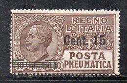 T132 - REGNO 1924 , Posta Pneumatica  15/10 Cent N. 4  *  Linguella (M2200) - Posta Pneumatica