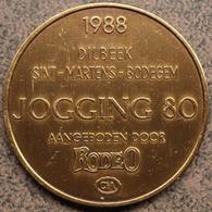 4093 Vz Afbeelding - Kz 1988 Dilbeek-Sint-Martens-Bodegem Jogging80 Aangeboden Door Rodeo C&A - Jetons De Communes