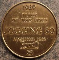4094 Vz Afbeelding - Kz 1989 Dilbeek-Sint-Ulrike-Kapelle Jogging80 Aangeboden Door Rodeo C&A - Jetons De Communes