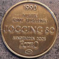 4095 Vz Afbeelding - Kz 1990 Dilbeek-Groot-Bijgaarden Jogging80 Aangeboden Door Rodeo C&A - Jetons De Communes