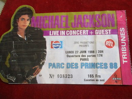 Live In Concert/ MICHAEL JACKSON/Parc Des Princes 88/Tribunes / Entrée AUTEUIL/1988        CK145 - Biglietti Per Concerti