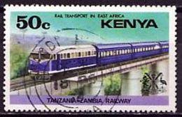 (64) Kenia 1976 Railway Transport In East Africa O Used/gestempelt (A-8-10) - Kenia (1963-...)