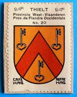West-Vl N020 Thielt Tielt Timbre Vignette 1930 Café Hag Armoiries Blason écu TBE - Thé & Café