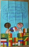 """Affiche """" Je Construis, Tu Construis... Nous Construisons L'Afrique Nouvelle"""", Massacrier, Très Bien. - Affiches"""