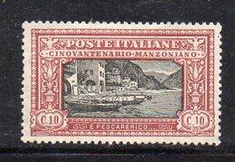 T438 - REGNO 1923 , Sassone N. 151  *  Linguella (M2200)  MANZONI - Nuovi