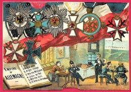 En L'état CHROMO (décorations De L'Empire D') Allemagne Dont Croix De Fer  ** Deutschland Décoration - Artis Historia